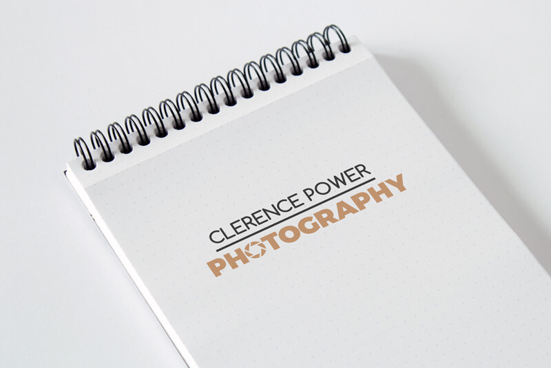 Clerence Power Photography Logo Sketchbook