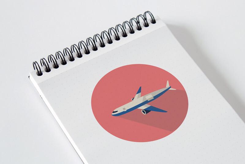 Plane Illustration Sketchbook