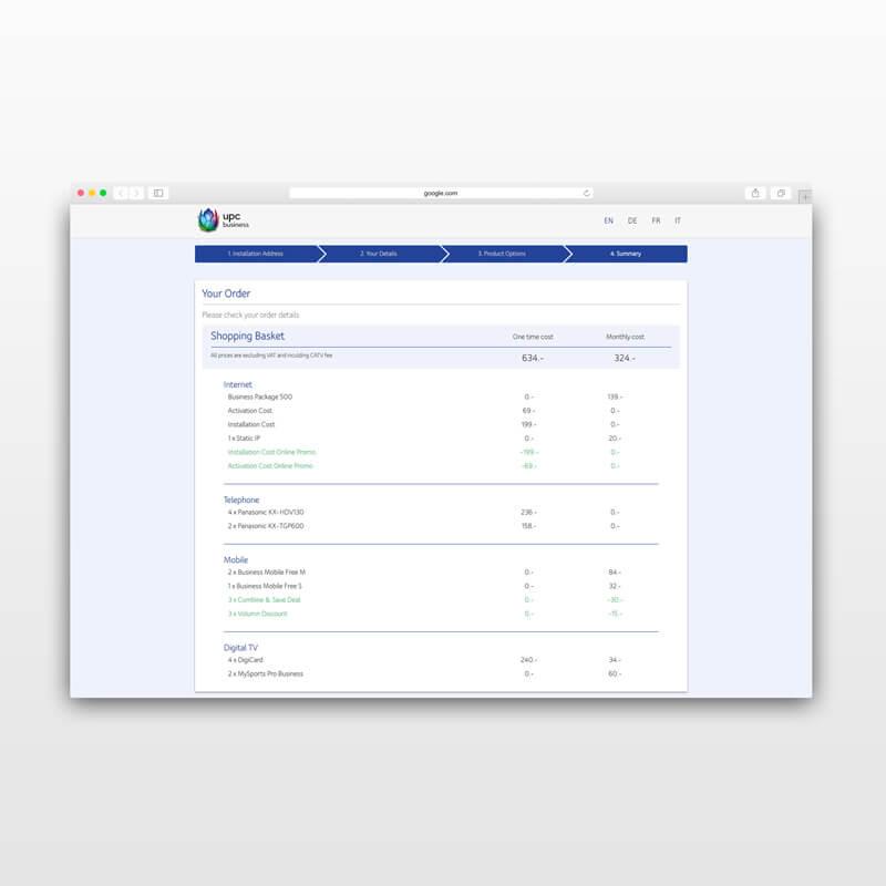 UPC Schweiz Webshop